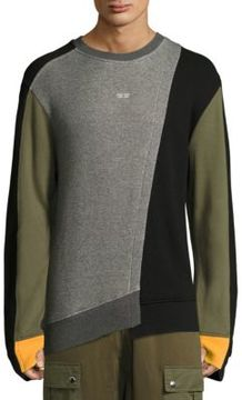 Mostly Heard Rarely Seen Colorblocked Cotton Sweatshirt
