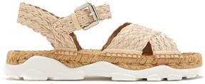 Stella McCartney Woven-raffia espadrille sandals