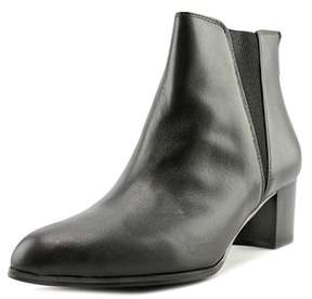Alfani Vitaa Women Pointed Toe Leather Black Ankle Boot.