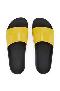 Raf Simons × Adidas Checkerboard Adilette Slides