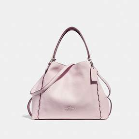 COACH COACH EDIE SHOULDER BAG 28 WITH SCALLOPED DETAIL - ICE PINK/SILVER