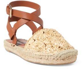 Ralph Lauren Genina Crocheted Sandal Beige/Rl Gold 36.5