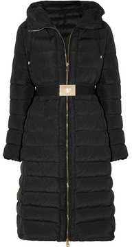 Moncler Imin Belted Quilted Shell Down Coat - Black
