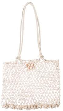 Clare Vivier Leather-Trimmed Woven Bag