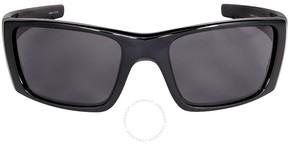 Oakley Fuel Cell Wrap Sunglasses - Polished Black/Warm Grey