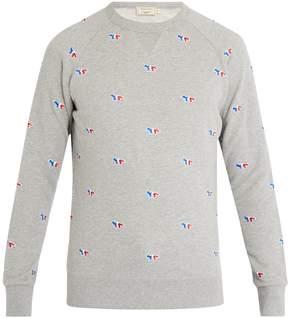 MAISON KITSUNÉ Fox-appliqué cotton-jersey sweatshirt