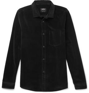 A.P.C. Cotton-Velour Shirt