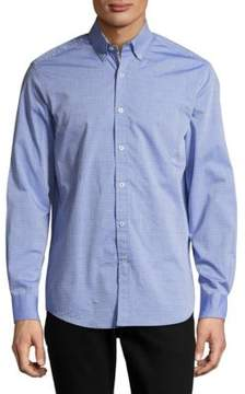 Report Collection Casual Diamond Patterned Cotton Shirt