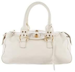 Saint Laurent Leather Handle Bag - WHITE - STYLE