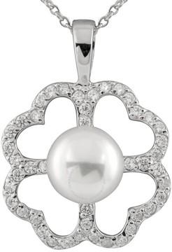 Bella Pearl Sterling Silver Clover Pearl Pendant