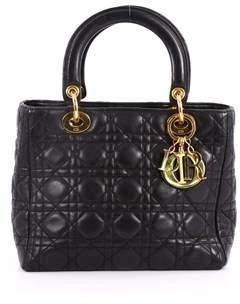 Christian Dior Pre-owned: Lady Handbag Cannage Quilt Lambskin Medium.