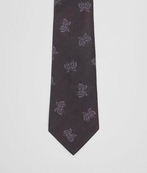 Bottega Veneta Nero Silk Tie