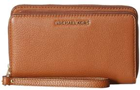 Michael Kors MICHAEL Adele Double Zip Leather Wallet - LUGGAGE - STYLE