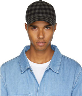 A.P.C. Grey and Black Louis Cap
