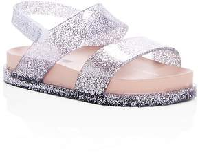 Mini Melissa Girls' Mini Cosmic Glitter Slingback Pool Slide Sandals - Walker, Toddler