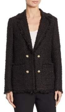 Edward Achour Tweed Fringe Jacket