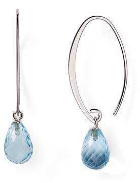 Bloomingdale's Sterling Silver & Blue Topaz Drop Earrings - 100% Exclusive
