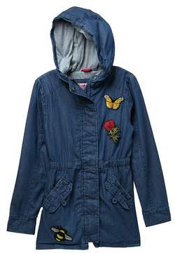 Urban Republic Chambray Patch Bomber Jacket (Big Girls)