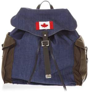 DSQUARED2 Cotton Denim Backpack