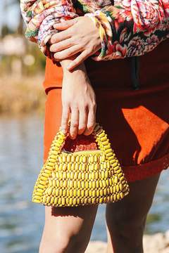 Urban Outfitters Bethany Beaded Handle Bag