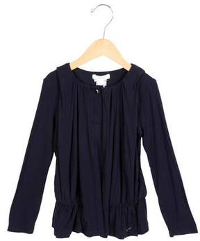 Chloé Girls' Draped Long Sleeve Top w/ Tags