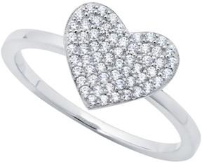 Crislu Simply CZ Pave Heart Ring