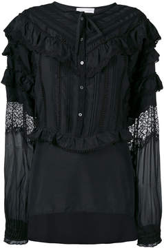 Faith Connexion ruffled shirt