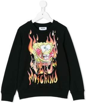 Moschino Kids burning Sponge Bob sweatshirt