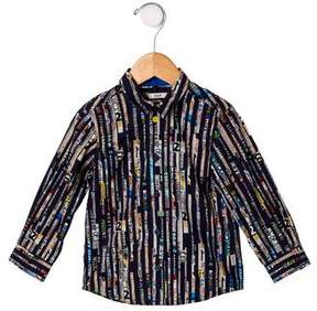 Paul Smith Boys' Urban Print Button-Up Shirt