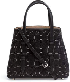 Alaia Black suede studded mini tote bag