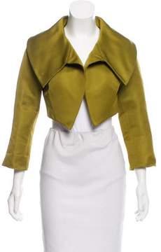 Bill Blass Satin Cropped Jacket