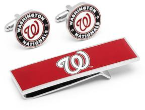 Ice Washington Nationals Cufflinks and Money Clip Gift Set