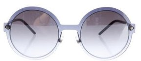 Marc Jacobs Round Reflective Sunglasses