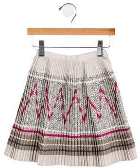 Lili Gaufrette Girls' Pleated Abstract Skirt