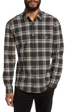 BOSS Men's Lalo Plaid Flannel Shirt