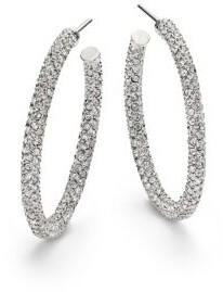 Adriana Orsini Pavé Crystal Hoop Earrings/1.25