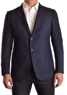 Armani Collezioni Men's Blue Polyester Blazer.