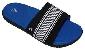 Champion Boys' Patch Slide Sandals Blue