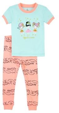 Petit Lem Little Girl's Two-Piece Ballet Pajama Set