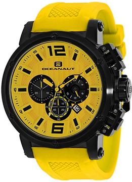 Oceanaut Spider Collection OC2140 Men's Stainless Steel and Yellow Silicone Watch