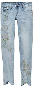 Tractr 5-Pocket Embroidered Skinny Jean (Big Girls)