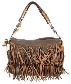 Hogan Suede Fringe Handle Bag