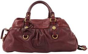 Marc by Marc Jacobs Classic Q leather handbag - BURGUNDY - STYLE