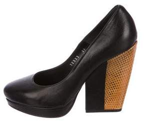 Dries Van Noten Snakeskin-Trimmed Pumps