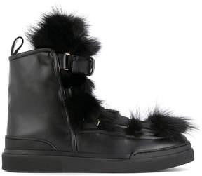 Balmain Apollonia basket boots