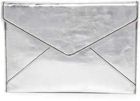 Rebecca Minkoff Metallic Leo Clutch - METALLIC - STYLE