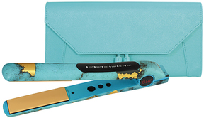 Turquoise Glow Flat Iron & Thermal Protectant Clutch