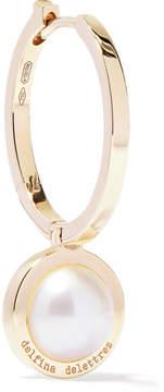 Delfina Delettrez 18-karat Gold Pearl Hoop Earring
