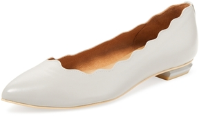 French Sole Women's Tonic Scalloped Pointed-Toe Flat