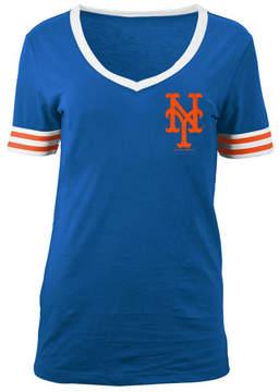5th & Ocean Women's New York Mets Retro V-Neck T-Shirt